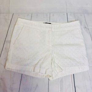 Cynthia Rowley White Lace Shorts Low Rise Size 8